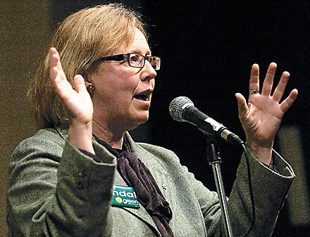 Elizabeth May at Chris Tindal Rally