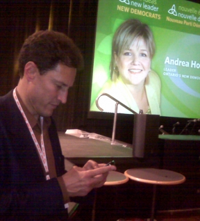 TVO's Steve Paikin used Twitter to report from the floor of the Ontario NDP leadership convention.