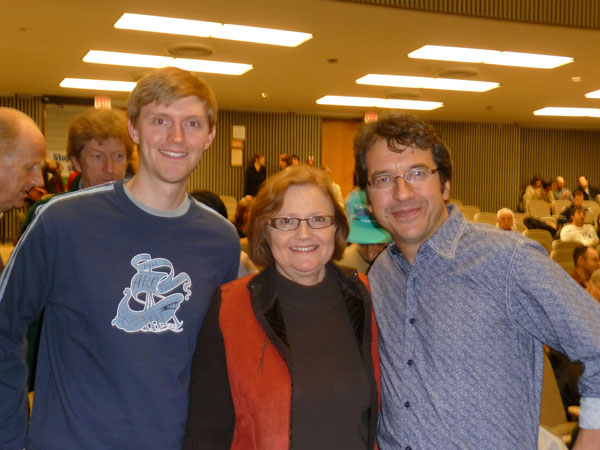 Chris and Mardi Tindal with George Monbiot in Toronto. To the left of the frame, John Ralston Saul and R.H. Thompson may have gotten a bit shoved out of the way.