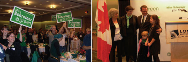 Saturday night at the Green Party of Ontario's leadership convention