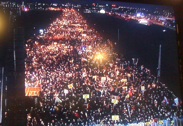 Wow wow wow - this photo is of historical masses. Biggest climate change demonstration in history. - @ZoeCaron on Twitter